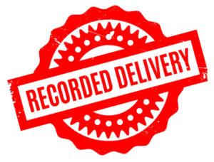 send TIGA notice by recorded delivery